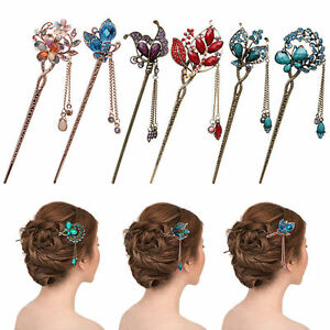 Retro-Rhinestone-Peacock-Flower-Hairpin-Stick-Hair-Pin-Accessories-for-Women