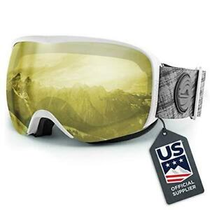 Wildhorn Outfitters Cristo Ski Snow Goggles, Adult - Arcticwhite-llyellow