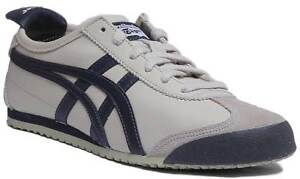 competitive price e9028 75aa3 Details about Onitsuka Tiger Mexico 66 Men Soft Leather Trainers In Off  White Size UK 6 - 12