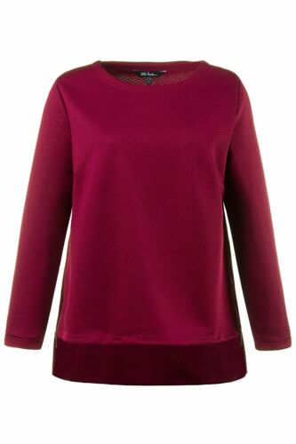 ULLA POPKEN FASHION Sweatshirt mit Zippern dunkelrot NEU