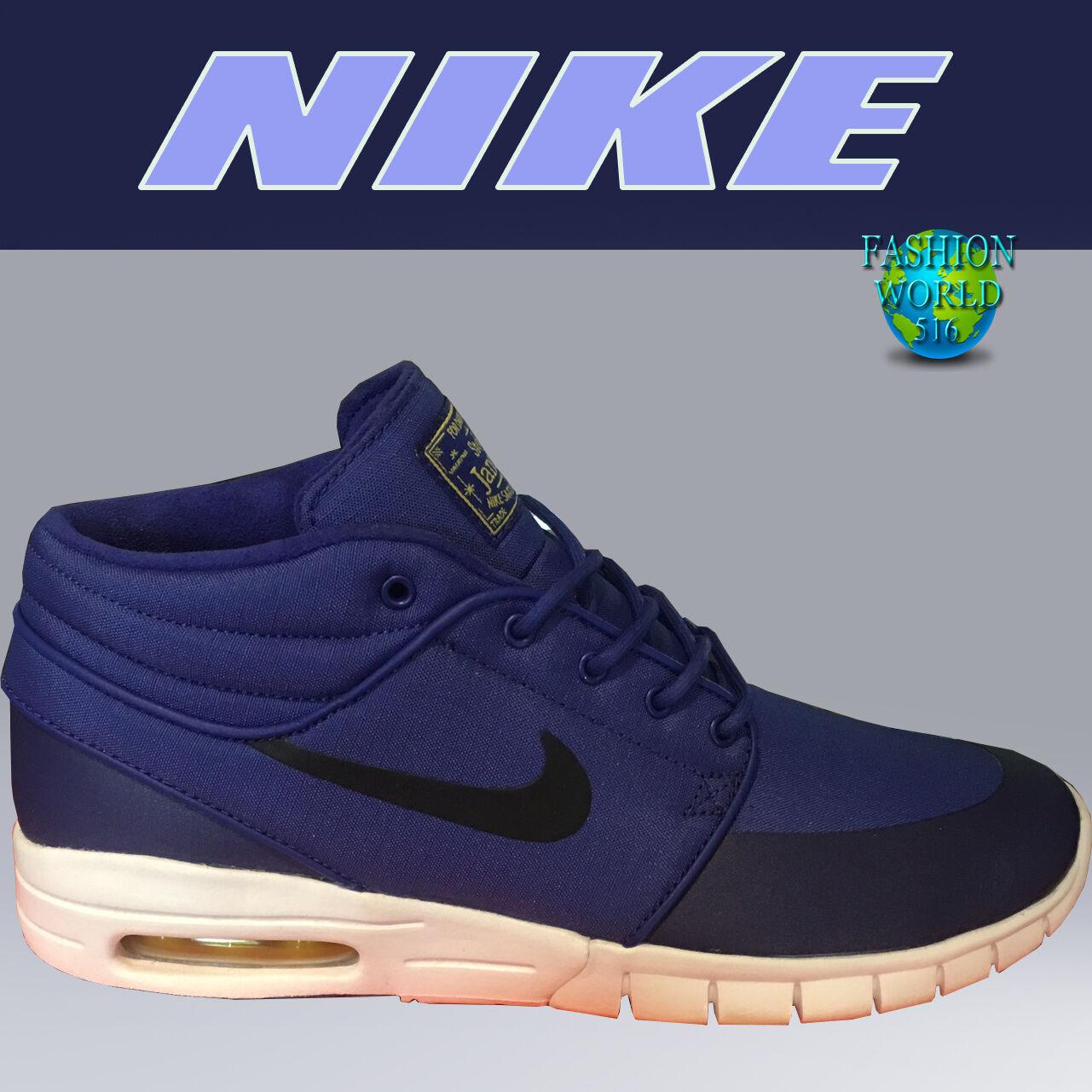 nike 9 taille 9 nike sb stefan janoski hommes mi - chaussures de max 807507 507 bleu royal / marine b64d02