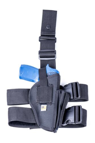 """MADE IN USA ATI 5/"""" 1911s w// railNylon Drop Leg Thigh Holster with Mag Pouch"""
