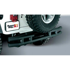 Rugged Ridge 1157103 Bumper Tube Style Rear Steel Black Powdercoated Jeep Each