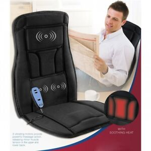 Back Massager For Chair Heated Seat Cushion Cover Mat Pad Portable Office Desk 827164851923 Ebay