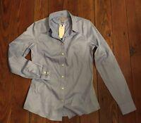Banana Republic Blue Non Iron Fitted Dress Shirt Size 2
