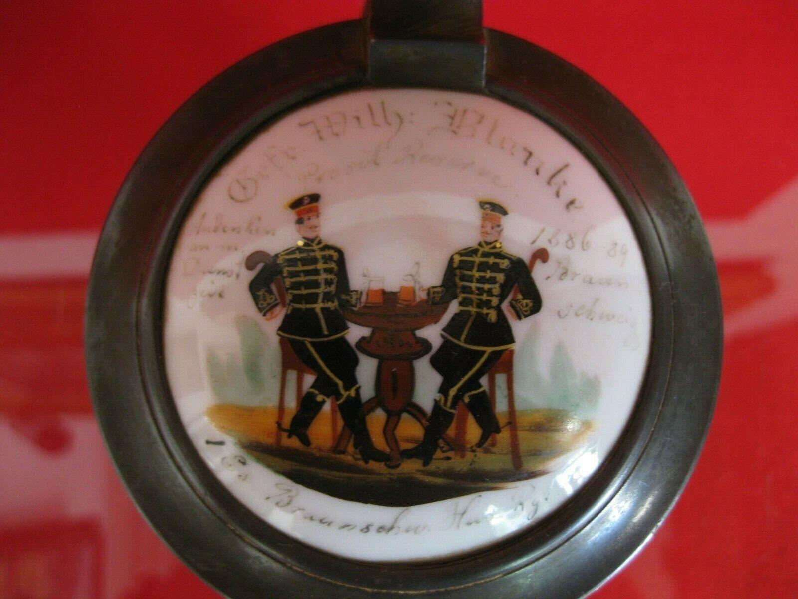 Reservistenkrug Krug Reservistika marronschweig HUSSARD Régiment 17 1886 verre