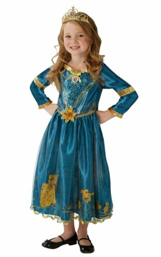 Le Ragazze Merida Costume Bambini Disney Princess Costume Fairytale con licenza Dressup
