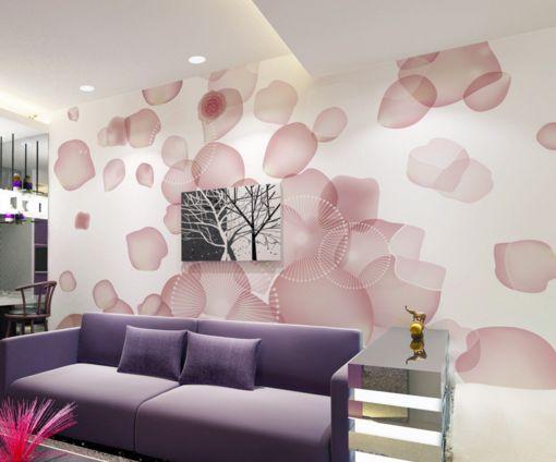 3D Verstreute Blütenblätter Fototapeten Wandbild Fototapete BildTapete FamilieDE