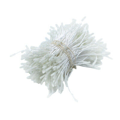 300 Pieces Flower Stamens Double Buds Artificial Flower Crafts Decor White