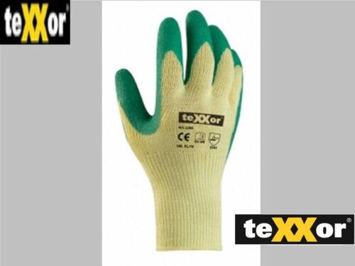 Ab 24-144  Paar TeXXor 2206 Arbeitshandschuhe LATEX Handschuhe Versandfrei !!