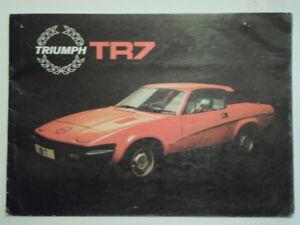 Triumph Tr7 Coupe Orig 1978 1979 Uk Mkt Sales Brochure Ebay
