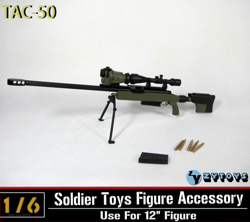 "M107A1 Rifle Version A by ZY Toys 1//6th Scale for 12/"" Action Figure"