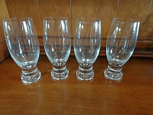 Clear Glass Wine Beer Beverage Glass Goblets Heavy Base 12 oz Set of 4