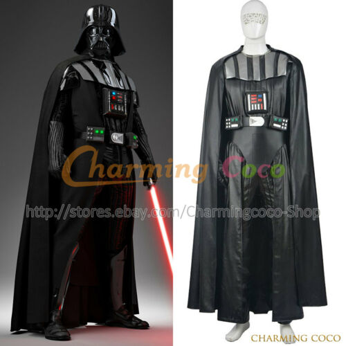 Star Wars Anakin Skywalker Darth Vader Cosplay Costume Amazing Full Set Outfit