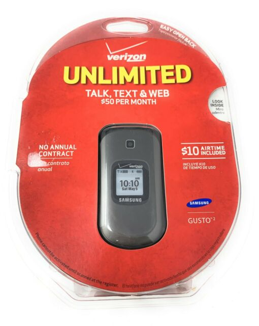Samsung Gusto 2 SCH-U365 - Charcoal Gray Verizon Unlimited Cell Phone Sealed