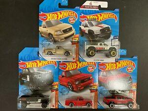 Hot-Wheels-Lote-De-5-Autos-Ford-F150-Svt-Lightning-con-Toyota-Tundra-1-64-2020-P