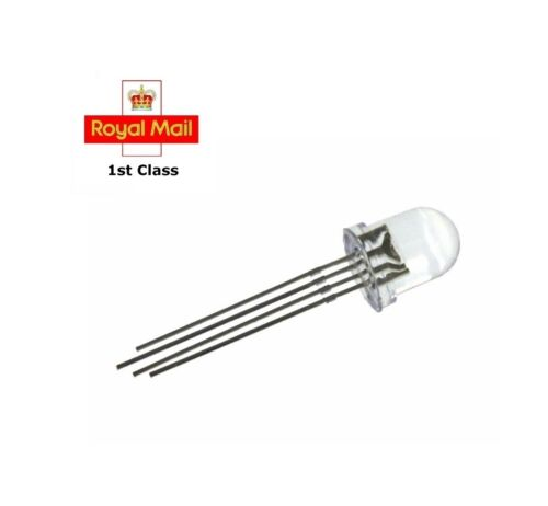5x super brillante señal atornilla LEDs 5v m8 rosca 20cm cable; azul