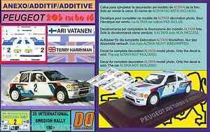 ANEXO DECAL 1/43 PEUGEOT 205 T16 A.VATANEN SWEDISH RALLY 1985 (01) - España - ANEXO DECAL 1/43 PEUGEOT 205 T16 A.VATANEN SWEDISH RALLY 1985 (01) - España