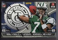 2013 Totally Certified Football Sealed Hobby Box 6 Packs Of 5 Cards 6 Hits