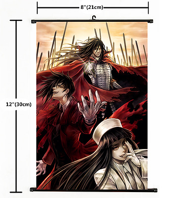 Home Decor Japanese Anime Wall poster Scroll Hellsing Alucard Cosplay Art