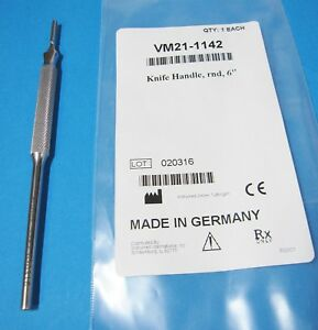 V-Mueller-VM21-1142-Knife-Handle-Round-6-034-Stainless-Germany-New-In-Package