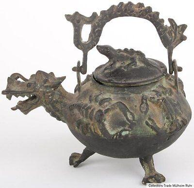 Kanne -a Chinese Bronze Tea / Wine Pot China 19./20 Jh Cinese Chinoise Chino