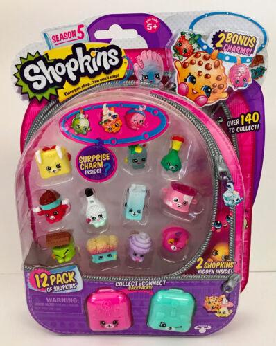 Shopkins Stagione 5 12 pacco di Shopkins con 2 raccogliere /& connetti zaini stile 4
