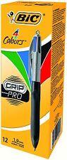 BIC 4 Colours Grip PRO Penna a sfera-colori assortiti confezione da 12