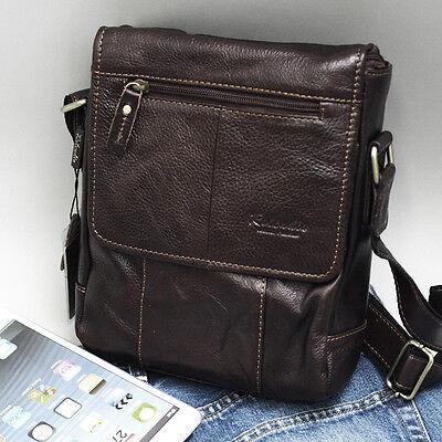New Genuine Leather Men's Women's Business Messenger Shoulder Bag Satchel-8820