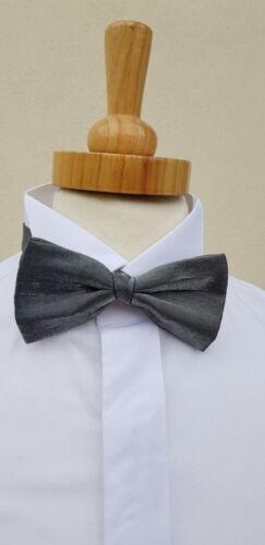 GUN Metal d/'argento corrispondente Fascia dello smoking e cravattino Set Cravatta Nera//// da sera formale