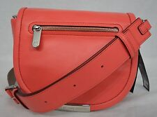 NWT! MARC By Marc Jacobs Luna Leather Crossbody Bag in Rose Bush. Coral Color.