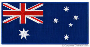 large australia flag patch embroidered iron on aussie down under