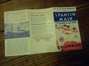 DEPLIANT SPANISH MAIN HAITI JAMAICA COLOMBIA PAQUEBOT VAPEUR COLOMBIAN LINE 1935 QScHn3SO-08041313-822418602