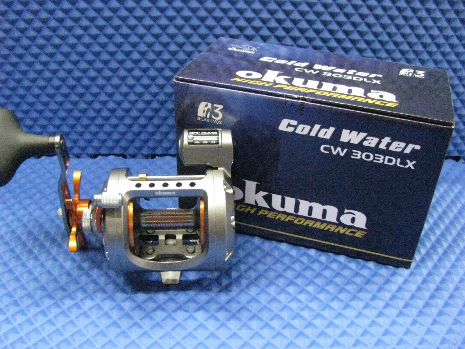 Okuma Cold Water Left Hand CW Trolling Reel with Line Counter CW Hand 303DLX b510cd