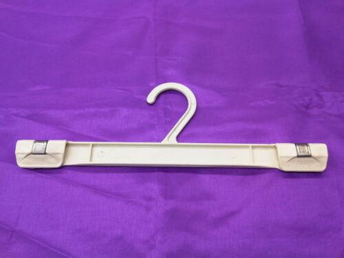 Ivoire col 32mm / 12in plastique double clip cintre pour manteaux jupe pantalon Sarees