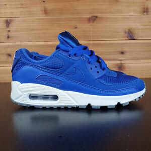 Details about Nike Air Max 90 Premium ID White Blue Black Women's Size 5.5