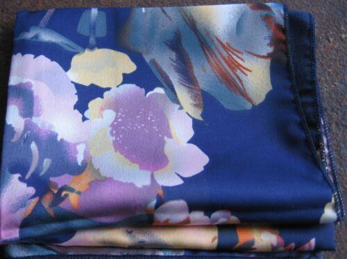 Bufanda señora 50x50 multicolor poliéster Surfer SEÑORA bufanda señora pañuelo pañuelo flores azul