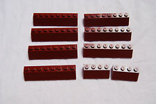 Lego Dark Red Slope Pieces 2 X 8 and 2 x 4 Lot 9 7298 10152 10218 5766 7477