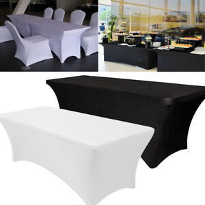 Merveilleux Image Is Loading 10PCS Spandex Stretch Tablecloth Folding Table Cover  Rectangular