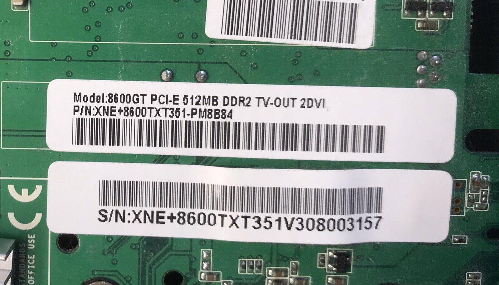 512MB Xpertvision XNE 8600GT + 8600TXT351