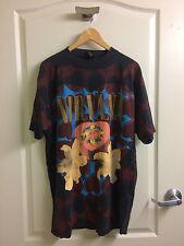 VTG 1993 Nirvana Heart Shaped Box T Shirt Size XL Bieber RARE Tshirt Concert