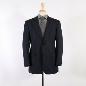 Brooks Brothers 346 39R Navy Striped Wool Two Button Sport Coat Blazer Jacket