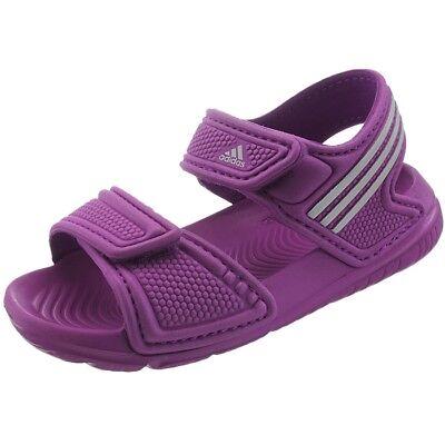 Adidas Akwah 9 Kinder Badesandale pink/weiß Pool Strandsandale Badeschuhe NEU