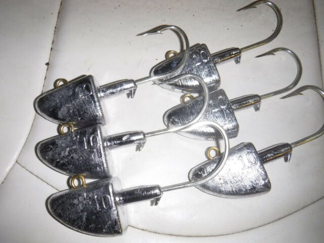 10oz swimbait jig heads Rockfish Lingcod grouper striped bass 6ea 10/0 hooks