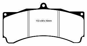 DP4032R EBC Yellowstuff Front Brake Pads for HOLDEN HOLDEN HSV Commodore VZ Z
