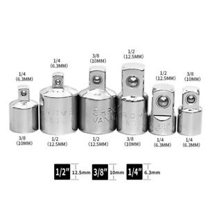 4X Impact Socket Air Reduce Set Converter Adapter 3//8 To 1//2 To 3//8 To 1//4 Drive