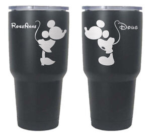 5aa078a6c3c Set of 2 Personalized 30 oz yeti cups with Mickey and Minnie Mouse ...