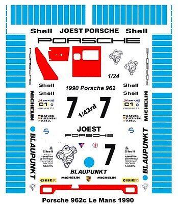 #7 Blaupunkt Porsche 1990 1//43rd Scale Slot Car Waterslide Decals