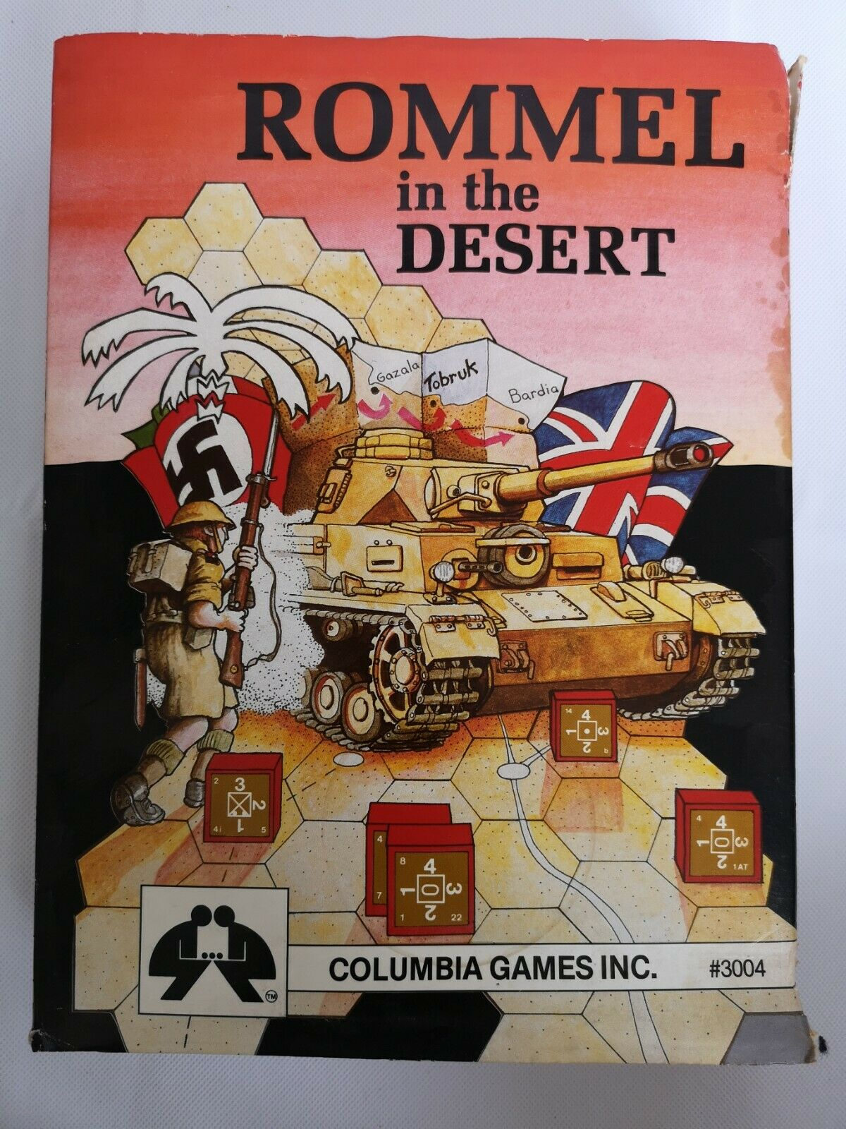 Rommel in the Desert  Columbia Games block game of WWII in Africa 1st edition