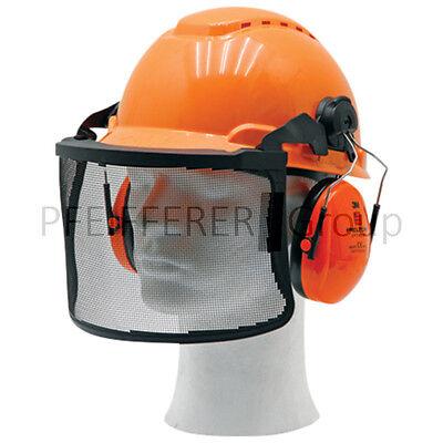 Premium wählbar Gehörschutz Gesichtsschutz Helmset Forsthelm Classic Comfort